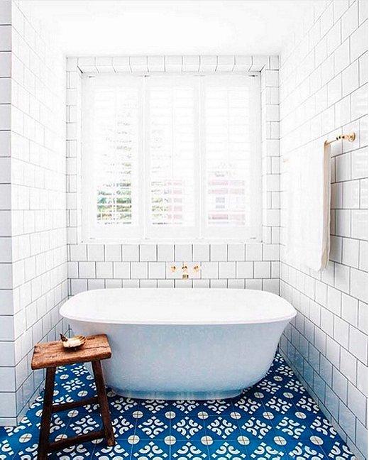 Moroccan Tile, Bath, Blue