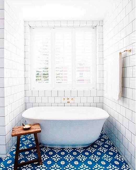 Moroccan Tile, Bath, Blue